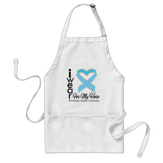 I Wear a Ribbon For My Hero - Prostate Cancer Adult Apron