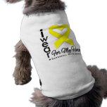 I Wear a Ribbon For My Hero - Sarcoma Doggie Shirt