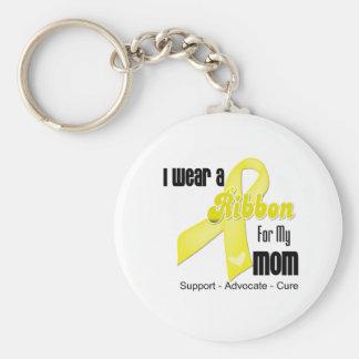 I Wear a Ribbon For My Mom - Sarcoma Keychain