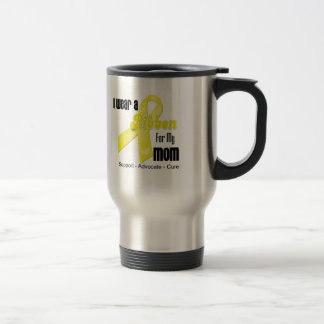 I Wear a Ribbon For My Mom - Sarcoma 15 Oz Stainless Steel Travel Mug
