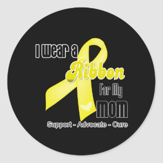 I Wear a Ribbon For My Mom - Sarcoma Classic Round Sticker