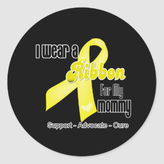I Wear a Ribbon For My Mommy - Sarcoma Classic Round Sticker