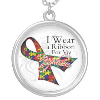 I Wear a Ribbon For My Nephew - Autism Awareness Pendant