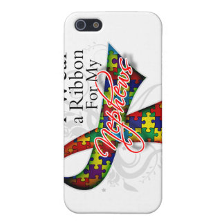 I Wear a Ribbon For My Nephews - Autism Awareness iPhone 5/5S Cases
