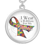 I Wear a Ribbon For My Nieces - Autism Awareness Custom Jewelry