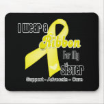 I Wear a Ribbon For My Sister - Sarcoma Mouse Pad