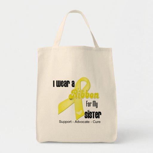 I Wear a Ribbon For My Sister - Sarcoma Tote Bag