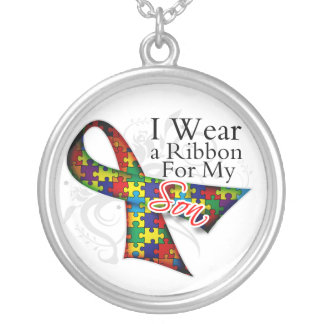 I Wear a Ribbon For My Son - Autism Awareness Necklaces