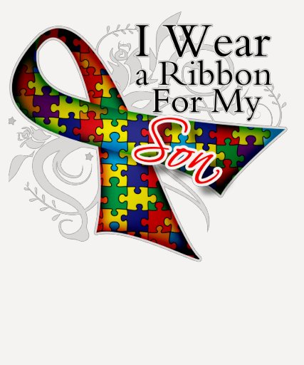 I Wear a Ribbon For My Son - Autism Awareness Shirt