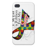 I Wear a Ribbon For My Sons - Autism Awareness Covers For iPhone 4