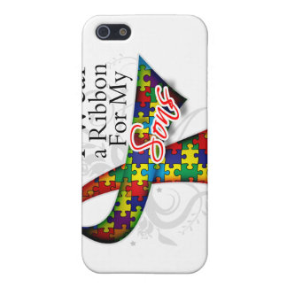 I Wear a Ribbon For My Sons - Autism Awareness iPhone 5 Cover