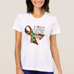 I Wear a Ribbon For My Sons - Autism Awareness Tshirt