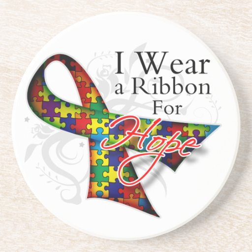 I Wear a Ribbon For My Student - Autism Awareness Coasters