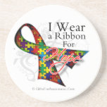 I Wear a Ribbon For My Student - Autism Awareness Drink Coaster