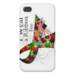I Wear a Ribbon For My Student - Autism Awareness Cases For iPhone 4