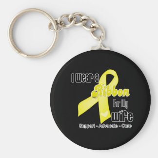 I Wear a Ribbon For My Wife - Sarcoma Keychain