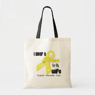 I Wear a Ribbon For My Wife - Sarcoma Tote Bag