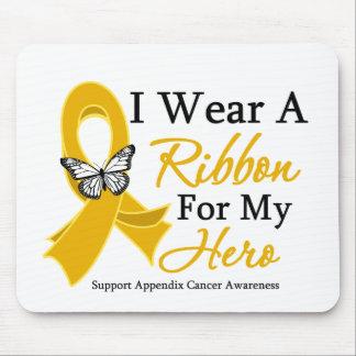 I Wear a Ribbon HERO Appendix Cancer Mouse Pad