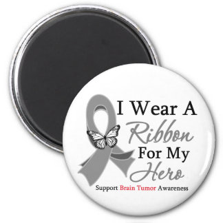 I Wear A Ribbon HERO Brain Tumor Fridge Magnet