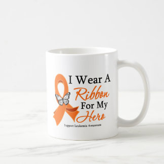 I Wear a Ribbon HERO Leukemia Coffee Mug