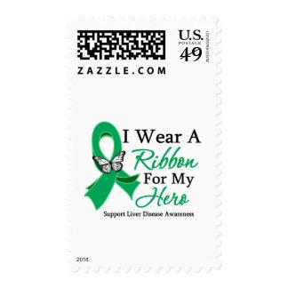 I Wear A Ribbon HERO Liver Disease Stamp