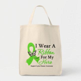 I Wear A Ribbon HERO Lyme Disease Canvas Bag