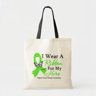 I Wear A Ribbon HERO Lyme Disease Tote Bag