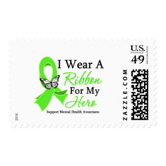 I Wear A Ribbon Hero Mental Health Awareness Postage Stamps
