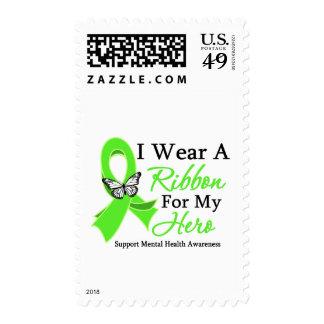 I Wear A Ribbon Hero Mental Health Awareness Stamp