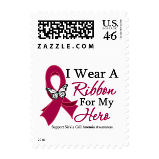 I Wear a Ribbon HERO Sickle Cell Anemia Postage Stamp