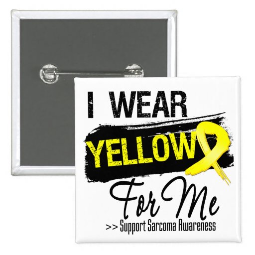 I Wear a Sarcoma Ribbon For Me 2 Inch Square Button