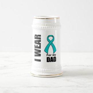 I Wear a Teal Ribbon For My Dad Mug