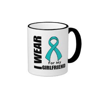 I Wear a Teal Ribbon For My Girlfriend Mug