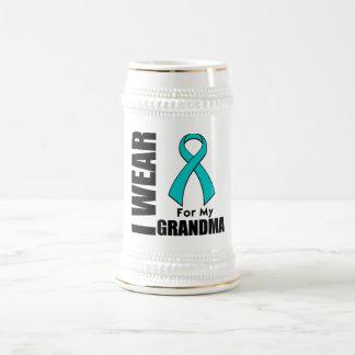 I Wear a Teal Ribbon For My Grandma Mugs