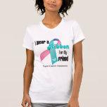 I Wear a Thyroid Cancer Ribbon For My Friend Tshirts