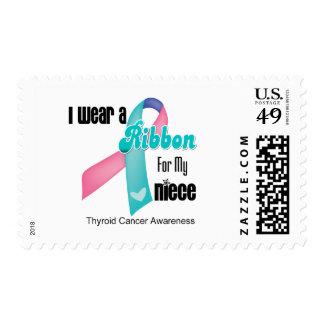 I Wear a Thyroid Cancer Ribbon For My Niece Postage