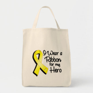 I Wear a Yellow Ribbon For My Hero Tote Bag