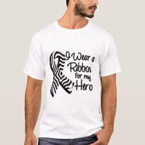 I Wear a Zebra Ribbon For My Hero T-Shirt