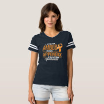 I WEAR AMBER FOR APPENDIX CANCER AWARENESS T-SHIRT