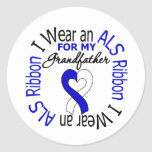 I Wear an ALS Ribbon For My Grandfather Sticker