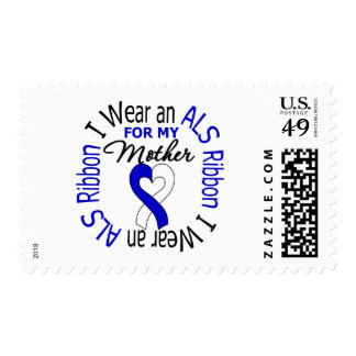 I Wear an ALS Ribbon For My Mother Stamps