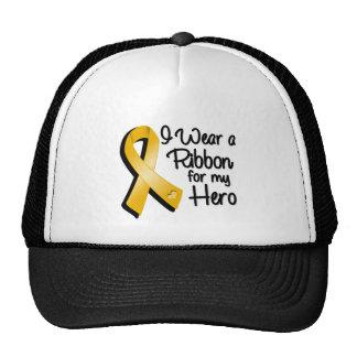 I Wear an Amber Awareness Ribbon For My Hero Trucker Hat