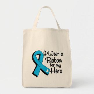 I Wear an Aqua Blue Ribbon For My Hero Tote Bag