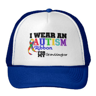 I Wear An Autism Ribbon For My Granddaughter Trucker Hat