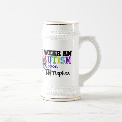 I Wear An Autism Ribbon For My Nephew Mugs