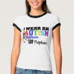 I Wear An Autism Ribbon For My Nephew Tee Shirt