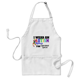 I Wear An Autism Ribbon For Someone Special Adult Apron