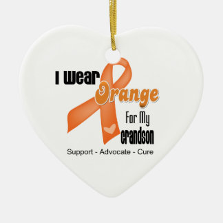 I Wear an Orange Ribbon For My Grandson Christmas Ornaments