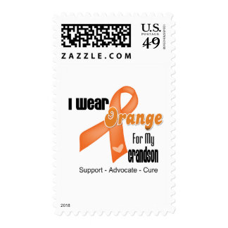 I Wear an Orange Ribbon For My Grandson Postage Stamps
