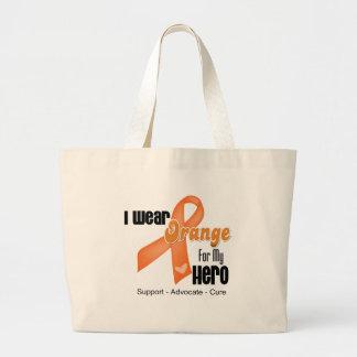 I Wear an Orange Ribbon For My Hero Jumbo Tote Bag